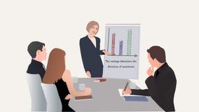 Spotkanie przy biurem, budynek strategia biznesowa Zdjęcie Stock