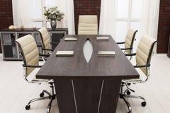 Spotkanie stół zdjęcia stock