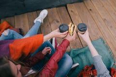Spotkanie starzy przyjaciele na dachu Zdjęcie Royalty Free