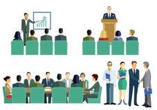 Spotkanie, sympozjon lub stażowa grafika, Zdjęcie Stock
