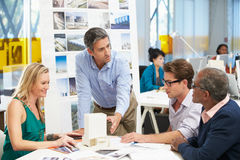 Spotkanie W architekta biurze Obrazy Royalty Free