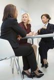 spotkanie w interesach kobiety fotografia stock