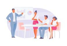 spotkanie w interesach ludzi ilustracji