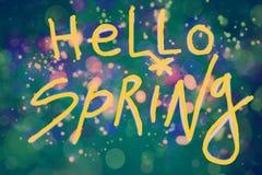 Spotkanie wiosna ilustracja wektor