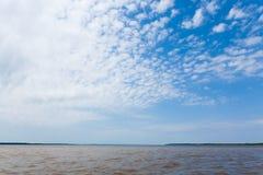 Spotkanie wody Brazylijska rzeki zbieżność od Manaus zdjęcie stock