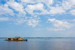 Spotkanie wody Brazylijska rzeki zbieżność od Manaus obrazy royalty free