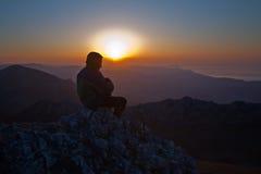 spotkanie wschód słońca Zdjęcia Stock