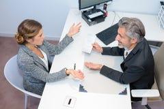 Spotkanie z pieniężnym advisor fotografia royalty free