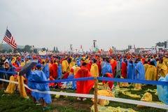 Spotkanie z Pope, Światowy młodość dzień, BÅ 'onia, Krakow, Polska Zdjęcie Royalty Free