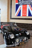 Spotless example of MG's 1957 Triumph TR3, on display,Saratoga Automobile Museum,2015 Royalty Free Stock Image