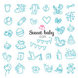 Spotless series | Hand drawn Baby,Toy icon set Stock Photography