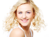 Spotless young blond woman Royalty Free Stock Photo