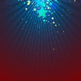 Spotlight abstract background vector illustration. Spotlight abstract background with falling stars. Vector illustration Royalty Free Illustration