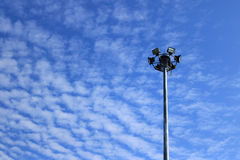 Spotlight on altocumulus cloud. Detail of spotlight on altocumulus cloud Royalty Free Stock Photo