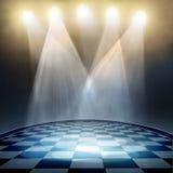 Spotlight  background. Spotlight on empty interior background Royalty Free Stock Photo