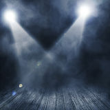Spotlight  background. Background in show. Spotlight on smog Royalty Free Stock Photo