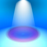 Spotlight background illustration, exhibition stand Royalty Free Stock Images