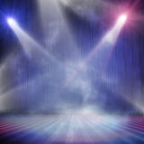 Spotlight  background. Background in show. Spotlight on smog Stock Images