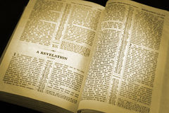 Spotlight on the Bible Stock Photo