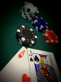 Spotlight A Blackjack Stock Photo