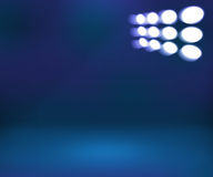 Spotlight Blue Room Background Stock Photography