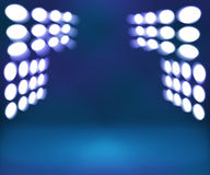 Spotlight Blue Room Stage Background Royalty Free Stock Photos