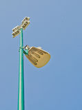 Spotlight and Blue sky. Royalty Free Stock Images
