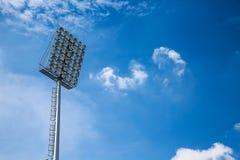 Spotlight and blue sky Stock Image