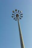 Spotlight. With blue sky background stock image