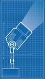 Spotlight Blueprint Stock Image