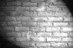 Spotlight on the brick wall Stock Photography