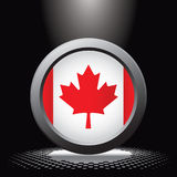 Spotlight on canadian flag Stock Photo