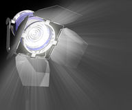 Spotlight Closeup. Spotlight Overwhite. You can isolate the images separately Royalty Free Stock Images