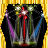 Spotlight Color Shows Stage Lights And Beam Royalty Free Stock Photos