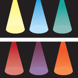 Spotlight Colors Royalty Free Stock Images