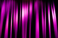Spotlight on curtain Stock Photo