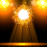 Spotlight, disco, party, stage Stock Photo