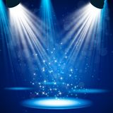 Spotlight effect scene background Stock Image