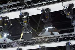Spotlight filler lights mounted on ceiling. Spotlight filler lights mounted on the ceiling Stock Images
