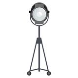 Spotlight for film studio. Flat vector cartoon illustration. Objects isolated on a white background Royalty Free Stock Image