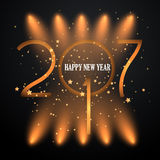Spotlight Happy New Year background. Happy New Year background with spotlights Royalty Free Stock Images