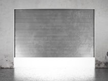 Spotlight illuminate of  roller shutter door Stock Images