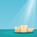 Spotlight Illuminated Podium EPS10 Vector Royalty Free Stock Photos