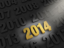Spotlight On 2014 Stock Photo