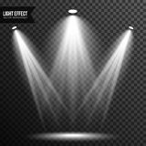 Spotlight illumination, bright light, stage, podium vector transparent royalty free illustration