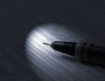Spotlight on investments Royalty Free Stock Photo