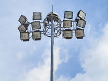 Spotlight lamp post Stock Photography