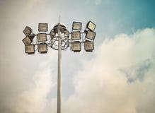Spotlight lamp post/ Retro filter image Stock Photos