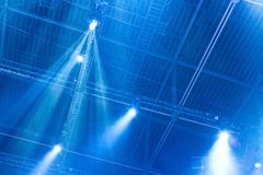 Spotlight with Laser rays Royalty Free Stock Photography
