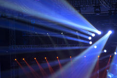 Spotlight with Laser rays. Stage Spotlight with Laser rays Royalty Free Stock Photo